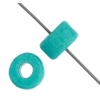 Ceramic Bead Cylinder 6X4mm Turquoise